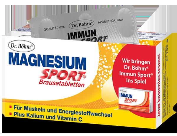Magnesium Sport, Magnesium und Kalium Tabletten